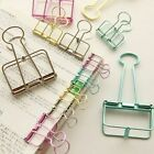 Cute Colorful Metal Paper Clips Binder Clip Photo Message Ticket File Clips Sets for sale  China