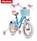 RoyalBaby Girls Kids Bike Stargirl 12 14 Inch Bicycle with Basket Training Wheel