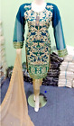 Designer embroidered Chiffon Stitched Suit   Pakistani Indian Party Wear