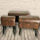 Retro Coca Cola Brown Vintage Style Pommel Horse Faux Leather Foot Stool Seat £90.0  on eBay