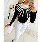 Womens Knitted Turtleneck Long Sleeve Sweater Ladies Casual Slim Fit Jumper Tops