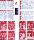 Gel Christmas Window Stickers Xmas Santa Removable Gel Decal Wall Home Decor Uk