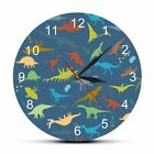 Wall Clock Dinosaurs Kids Bedroom Hanging Watch Home Boys Room Decoration Timer
