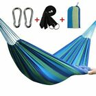 Portable Cotton Rope Camping Swing Bed Hammock Outdoor Travel Yard Hanging Bed