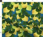 Citrus Tree Summer Fruit Kitchen Decor Plant Fabric Printed by Spoonflower BTY