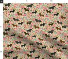 Chihuahua Dachshund Mix Cute Mutt Toy Dog Fabric Printed by Spoonflower BTY
