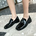 Womens Ladies New Fashion Leather Tabi Split Toe Slip On Court Shoes Loafers BGH