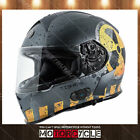 T14B Full Face Motorcycle Helmet Bluetooth Street Dual Visor Flat Gray Nuke XL