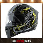 T15B Full Face Motorcycle Helmet Bluetooth Sport Dual Visor Gloss Black Hi Viz M