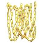 Accuform Yellow Lightweight Plastic Chain, Multi Lengths, New, Free Shipping