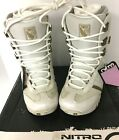 Nitro Rival Snowboard Boots Womens Size 7.5, 25 Pearl White Display Model