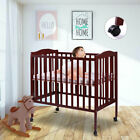 Kyпить Pine Wood Baby Toddler Bed Convertible Nursery Furniture Safety Newborn 2 Color на еВаy.соm
