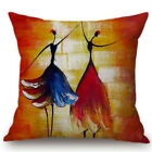 African Women Printed Bay Window Cushion Cover Home Decorative Couch Pillow Case