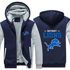 New DETROIT LIONS Mens Hoodie Fleece Coat Winter Thicken Warm Jacket Sweatshirt $31.99 USD on eBay