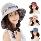 Kyпить Women Ladies Summer Sun Beach Bowknot Hat Wide Brim Foldable Cap Bucket Hat Well на еВаy.соm