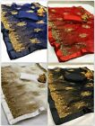 Saree Indian Designer Wedding Bridal Net with Sequence Embroidery Work Sari KP