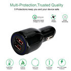2 Dual Port USB Fast Car Charger LED Qualcomm Quick Charge QC3.0 iPhone Samsung