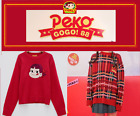 [PEKO-CHAN] PEKO MILKY Retro Check / Red Knitted Sweater - Free Ship w/ Tracking