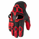 ICON Hyperport Short Leather Gloves RED