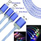 LED Light Up Sync Charger Data Cable Charge Cord Luminous Phone Charge Line