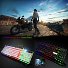 7 Colorful LED Illuminated Backlit USB Wired PC Rainbow Gaming Keyboard Mouse