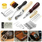 Leather Craft Punch Tools Kit Stitching Carving Working Sewing Saddle Groover