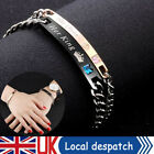 """2pcs His And Her Bracelet """"her King/his Queen"""" Valentine Couple Lover Birthday"""
