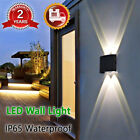 4/6/8W LED Wall Lamp Sconce Corridor Balcony Up Down Lights Outdoor Garden UK