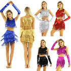 Womens Belly Dance Costume Crop Top with Short Skirt and Long Fingerless Gloves
