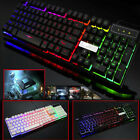 Gaming Keyboard Mouse Backlit PC Mechanical Feeling Backlight LED Illuminated