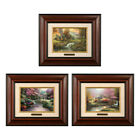Thomas Kinkade 3 Brushwork Deal / Save 66% in eBay Deals (Choice Of Frame) <br/> Stepping Stone Cottage Mountain Retreat Pools Serenity