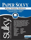 Sulky Paper Solvy Embroidery Stabilizer Water Soluble Topping Wash Away