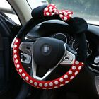 Kyпить New Minnie Mouse Steering Wheel Cover Mickey Plush Cartoon Bow Car Interior 2019 на еВаy.соm