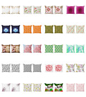 Ambesonne Floral Leaves Cushion Cover Set Of 2 For Couch And Bed In 4 Sizes