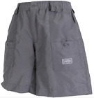 AFTCO Original Fishing Shorts 7 Pocket Elastic Waist W/ Button Mens Waterproof