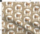 Chihuahua Dog Pet Animal Portrait Fabric Printed by Spoonflower BTY