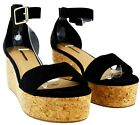 WOMENS LADIES LOW FLAT PLATFORM WEDGE ESPADRILLE SUMMER STRAP SANDALS SHOES SIZE