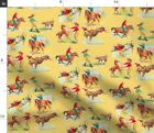 Vintage Western Wild West Cowboy Rodeo Rancher Fabric Printed by Spoonflower BTY