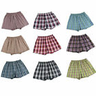 #1 Mens Boxer Plaid Shorts Panties Underwear Comfort Briefs Waistband 3piece set