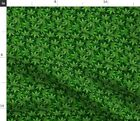 Marijuana Cannabis Smiley Face Green Weed Pot Fabric Printed by Spoonflower BTY