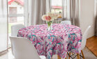 Ambesonne Floral Botany Round Tablecloth Table Cover for Dining Room Kitchen