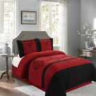 New Empire Home Red Heba Damask 4-Piece Comforter Set Bed In A Bag Sale! image