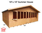 SUPREME SUMMER HOUSE LOG CABIN OFFICE BAR SHED TOP QUALITY GRADED WOODEN TIMBER