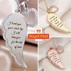 Angle Wings Heart Pendant 925 Sterling Silver Chain Necklace Womens Jewellery Uk