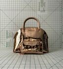 NWT Michael Kors Large Emmy Dome Satchel Crossbody patent Leather Bag and wallet