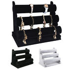 3-Tier Rack Velvet Jewelry Watch Bracelet Necklace Bangle Holder Display Stand