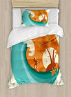 Ride the Wave Duvet Cover Set Twin Queen King Sizes with Pillow Shams Ambesonne