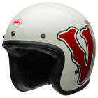 CHEAP Bell Custom 500 Open Face Motorcycle Helmet - WFO White / Red | All Sizes