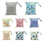 Waterproof Zip Wet Dry Bag for Baby Infant Cloth Diaper Nappy Pouch Reusable USA