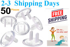 New Pack 50 Count Premium Quality Baby Safety Plug Covers - Durable Steady .
